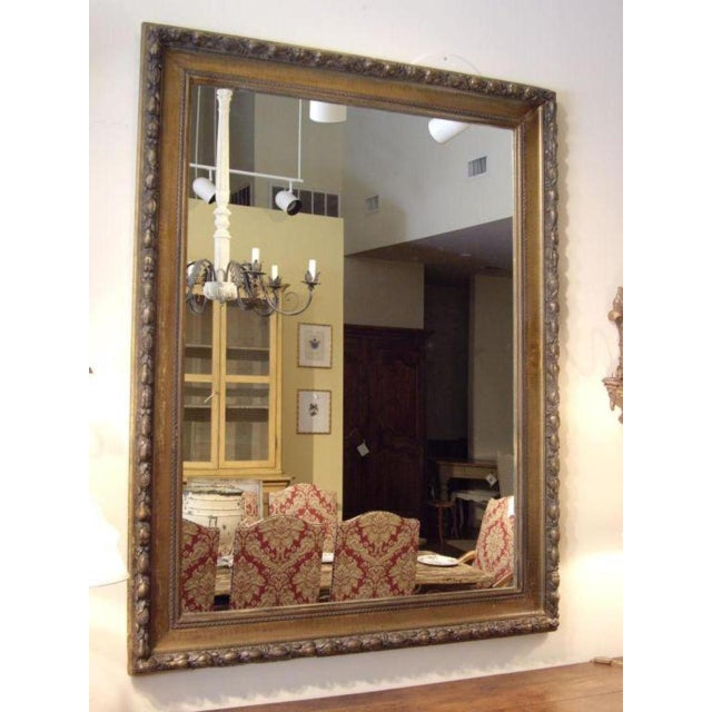 Traditional 19th C. Italian Worn Gilt Mirror For Sale - Image 3 of 6