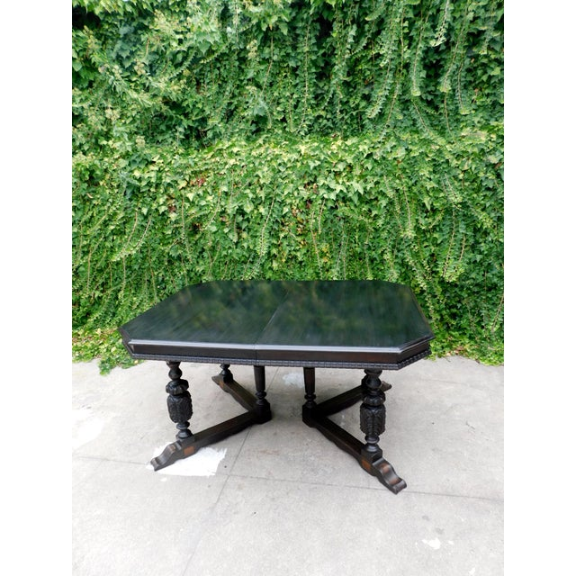 Antique Spanish Revival Carved Dining Table For Sale - Image 4 of 12