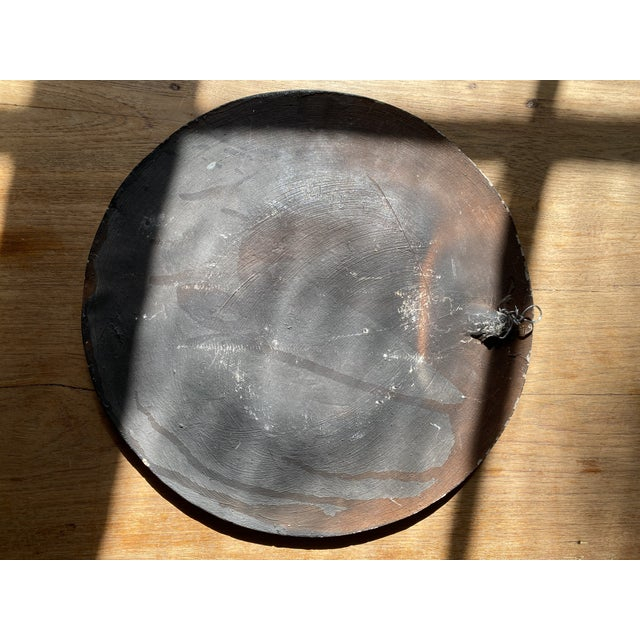 Black Late 20th Century Terracotta Decorative Plate For Sale - Image 8 of 10
