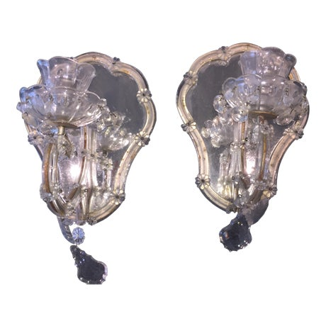 Vintage Candlestick Wall Mirrors - A Pair - Image 1 of 3