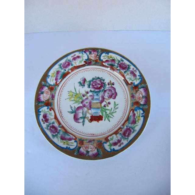 Asian Decorative Chinoiserie Wall Plates- 3 Pieces For Sale - Image 3 of 7