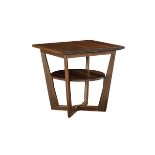 Contemporary Borkholder Walnut Aero End Table For Sale