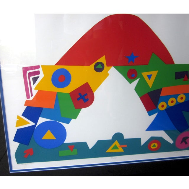 "1990s 1990s Daniel Gelakoska ""Stardome"" Graphic Primary Colors Serigraph Print For Sale - Image 5 of 8"