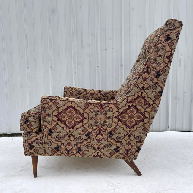 Mid-Century Modern Lounge Chair With Ottoman For Sale In New York - Image 6 of 13