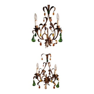 Pair of Early 20th Century French Provincial Wall Sconces For Sale