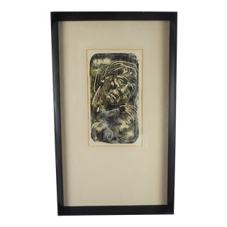 Modernist Print of Classical Woman For Sale