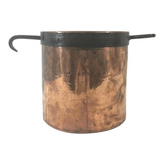 19th Century Copper Boiling Pot For Sale