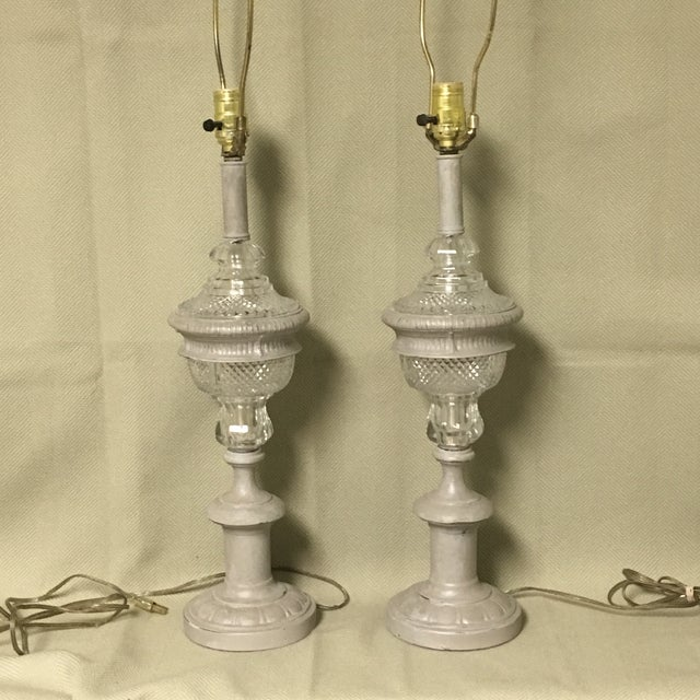 Vintage now modern pair of lamps by Westwood Industries. A classic traditional pair of lamps now with an urban touch. The...