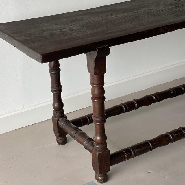 Mid 19th Century 19th Century Extended Dark Italian Console For Sale - Image 5 of 9