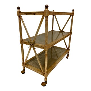 French Bronze Dessert Serving Cart For Sale
