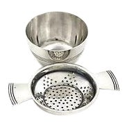 Elkington Deco Hotel-Ware Tea Strainer