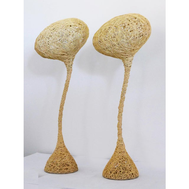 Spun String Lamps - a Pair For Sale - Image 4 of 8