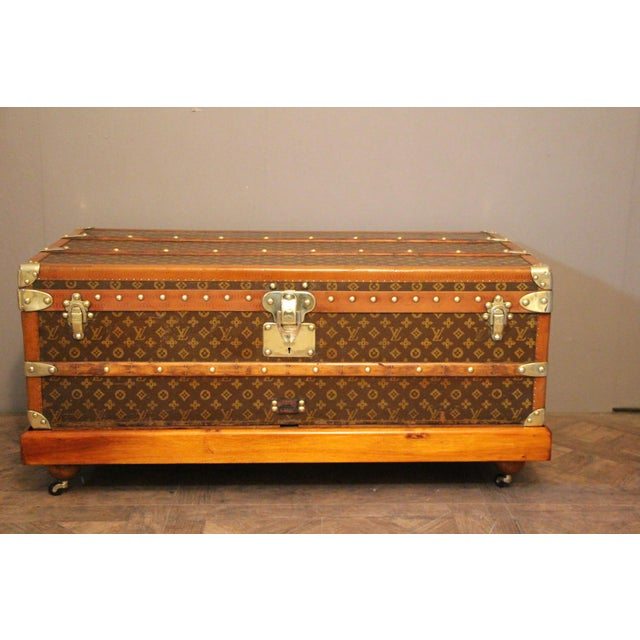 1920s Louis Vuitton Cabin Steamer Trunk For Sale - Image 13 of 13