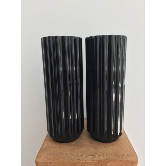 "George Sakier ""Lotus"" Vase for Fostoria Glass Company - a Pair For Sale - Image 9 of 12"