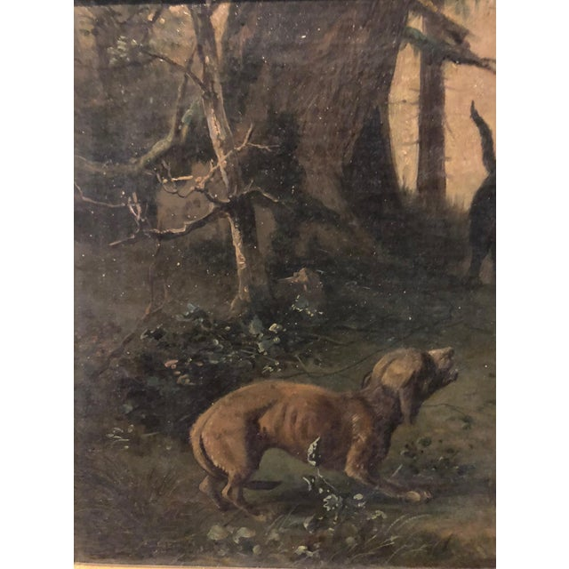 Oil Paint Late 19th Century Antique Karl (Carl) Reichert Victorian Oil Painting For Sale - Image 7 of 13
