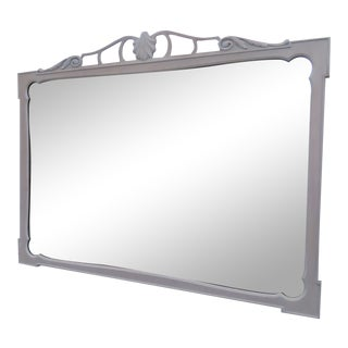 White Wash Painted Wall Bathroom Vanity Dresser Mirror For Sale