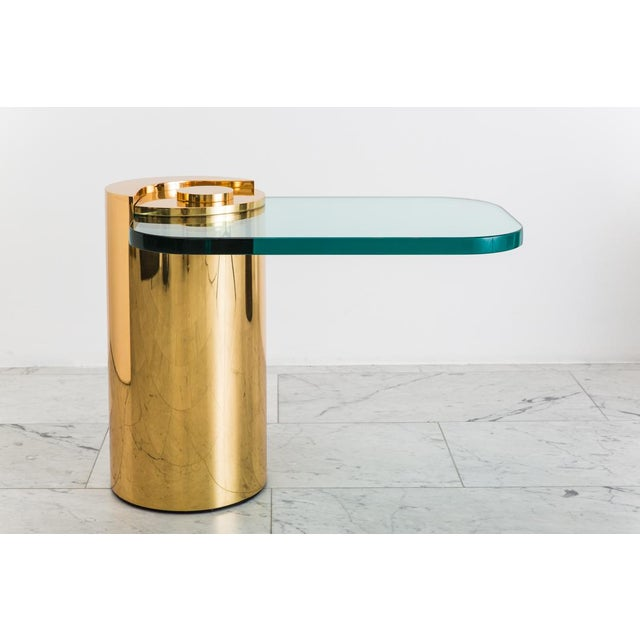 Polished Bronze Sculpture Leg Table, Usa For Sale In New York - Image 6 of 10