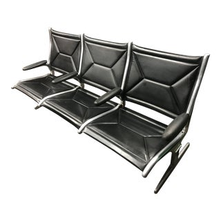 1960s Modern Eames for Herman Miller 3 Sling Airport Waiting Bench For Sale