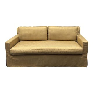 Contemporary Restoration Hardware Belgian Track Arm Sofa For Sale