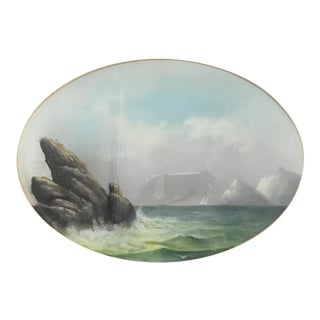 20th Century Traditional Watercolor Painting of Marine Landscape
