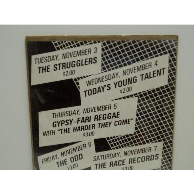 Americana 1980's Vintage Crazy Al's Concert Series Poster For Sale - Image 3 of 4