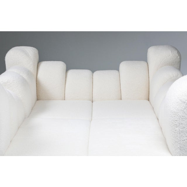 Textile Hans Hopfer 'Dromedaire' Sectional Sofa in Pierre Frey Wool, Roche Bobois - 1974 For Sale - Image 7 of 12