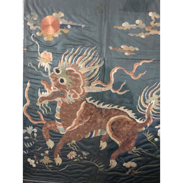 Bamboo 19th Century Qing Dynasty Imperial Chinese Silk Framed Tapestry Panel For Sale - Image 7 of 8