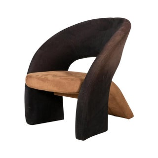 Two Tone Modern Lounge Chair in the Manner of Pierre Paulin, Olivier Morgue