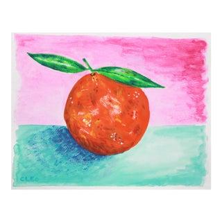 Orange Still Life by Cleo Plowden For Sale