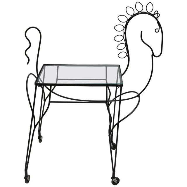 Mid-Century Modern Horse-Form Bar Cart by Frederick Weinberg For Sale - Image 9 of 9