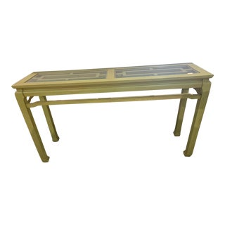 Vintage Asian Inspired Fretwork Console Table For Sale