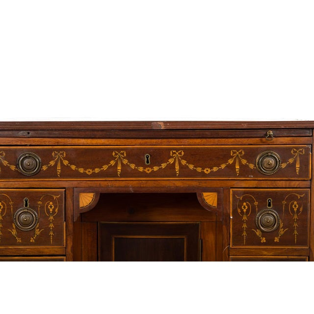 18th-Century Petite Georgian Inlaid Desk - Image 7 of 10