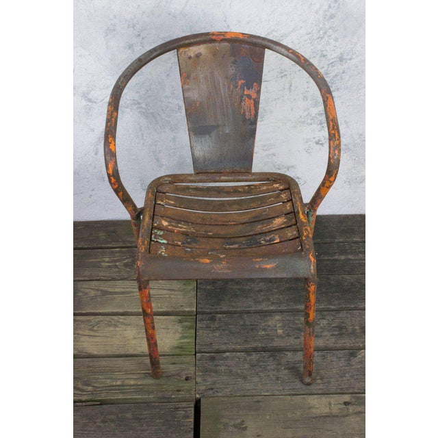 Pair of French Tolix Chairs With Original Paint Finish - Image 3 of 11