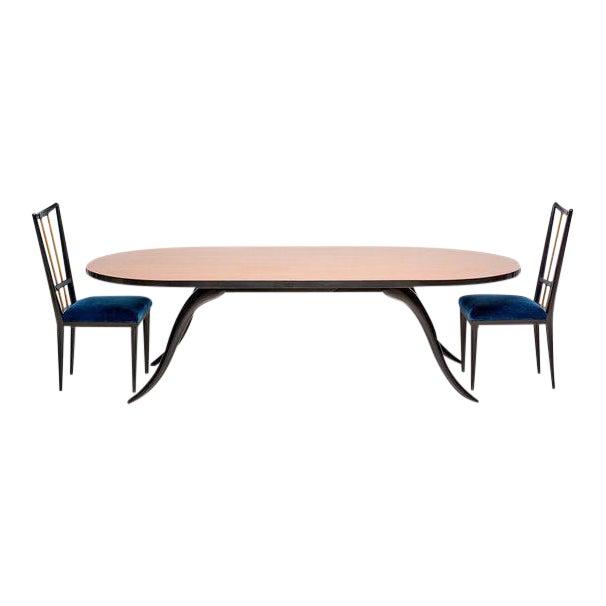 1950s Mid-Century Modern Eugenio Escudero Dining Set - 3 Pieces For Sale