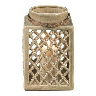 Antique Medium Terracotta Ceramic Lantern