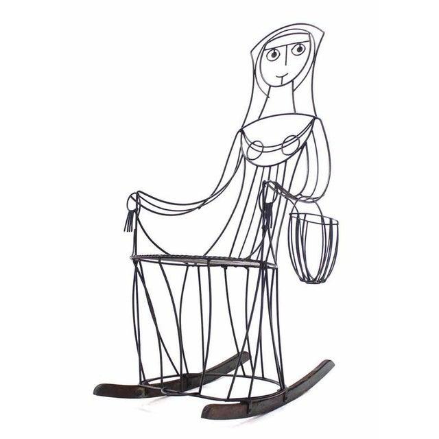 Very nice mid century modern welded wire design rocking chair by John Risley.