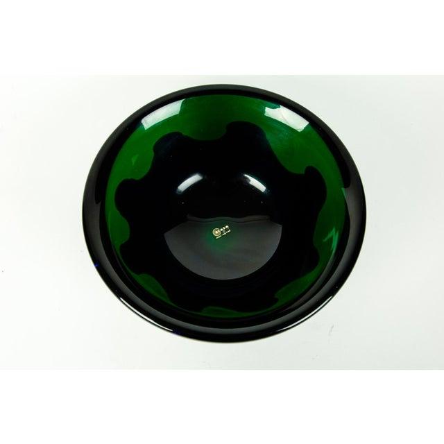 Murano Mid Century Art Deco Style Murano Deco Bowl For Sale - Image 4 of 7
