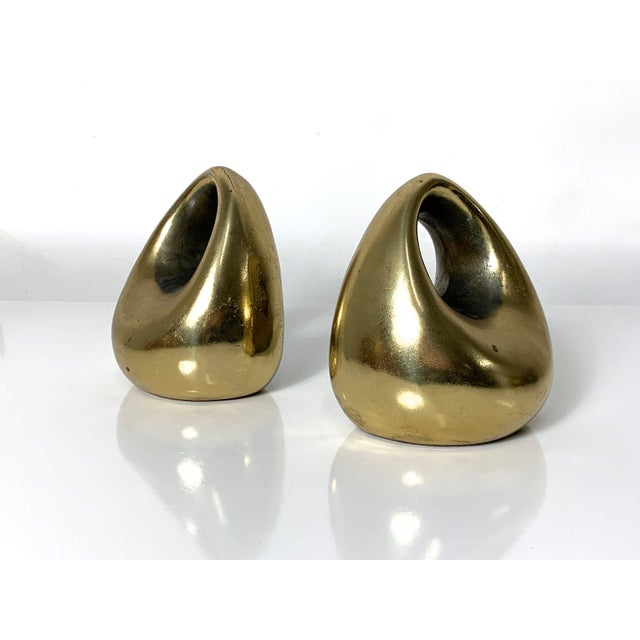 Jenfred Ware 1960's Ben Seibel Brass Orb Bookends - a Pair For Sale - Image 4 of 10