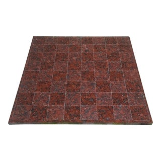 Hand-Carved Red/Maroon Marble Chess Board For Sale
