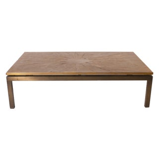 Etched Bronze Coffee Table, C. 1970 For Sale