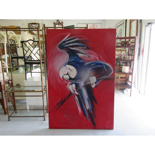 Flying Blue Parrot Original Painting - Image 6 of 6