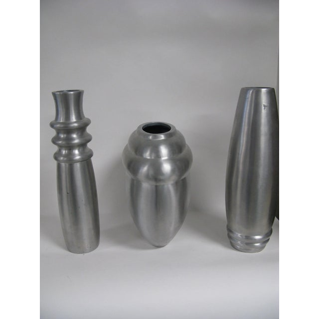 2003 Kilbarry Ireland Marquis by Waterford Pewter Vases - Set of 3 For Sale - Image 12 of 13