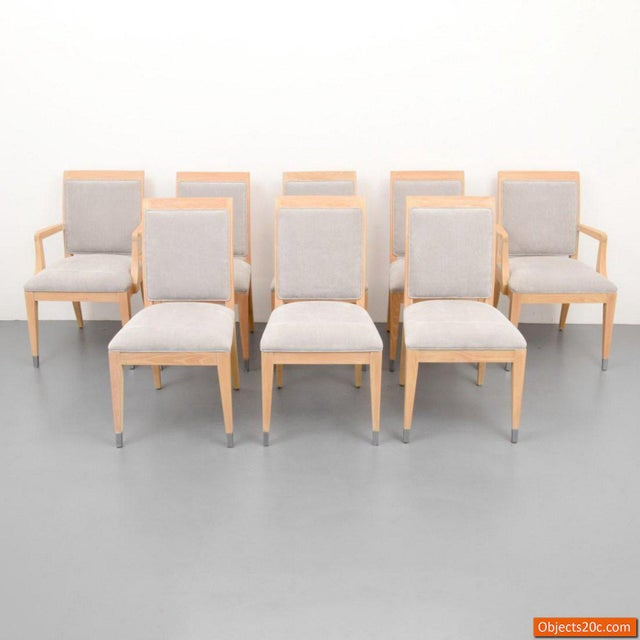 Jay Spectre for Century Mid-Century Modern Dining Chairs- Set of 8 For Sale - Image 9 of 10