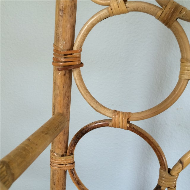 Vintage Bamboo Wine Rack - Image 8 of 11