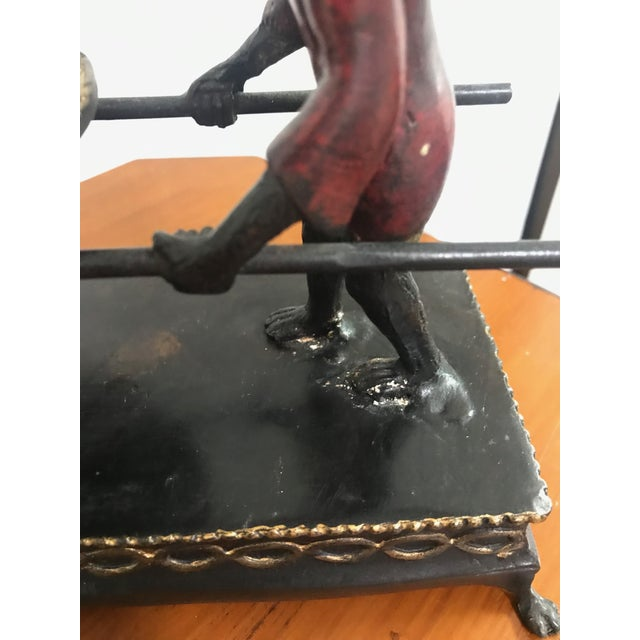 Black Hand Painted Monkey Calling Card Tray For Sale - Image 8 of 11