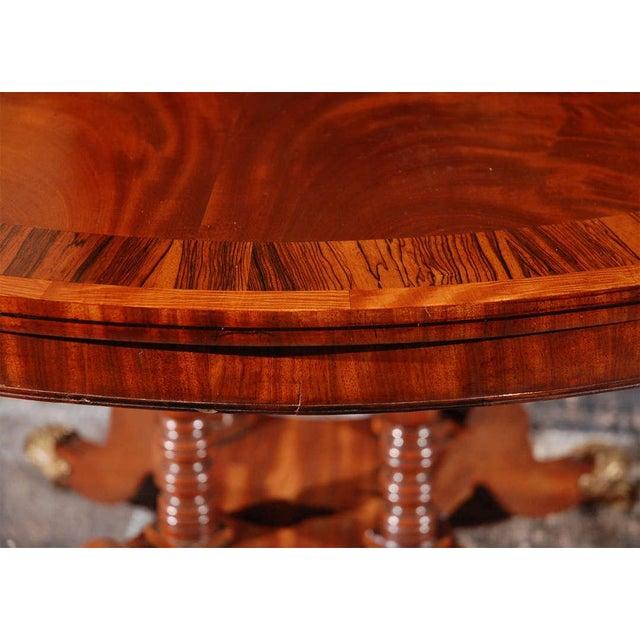 Mahogany 1840s English Round Mahogany Breakfast Table For Sale - Image 7 of 9