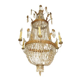 18th Century Empire Crystal Chandelier For Sale