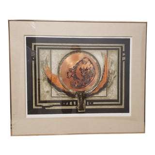 "Jb Thompson ""Photon"" Mixed Media Etching W/ Copper and Aquatint Limited Edition C. 1970s For Sale"