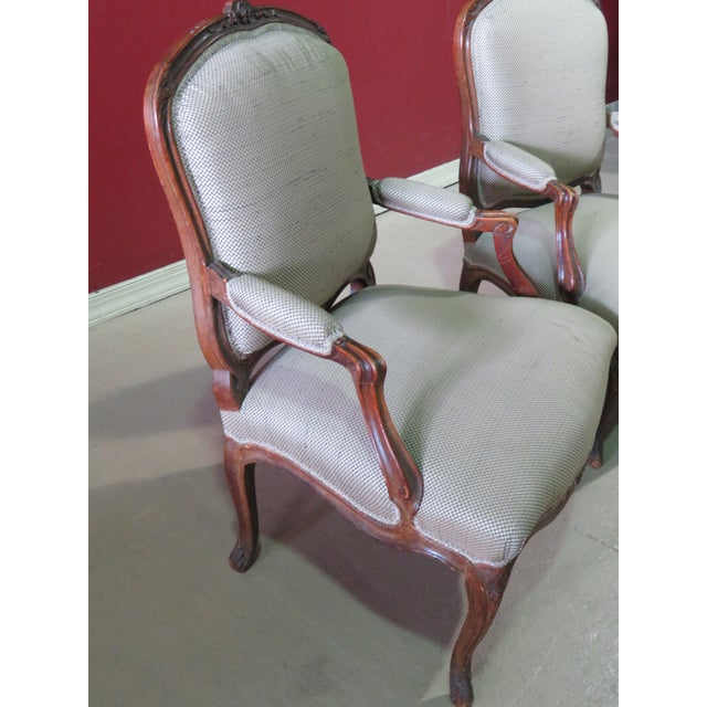 Louis XV Style Fauteuil Chairs - a Pair For Sale In Philadelphia - Image 6 of 8