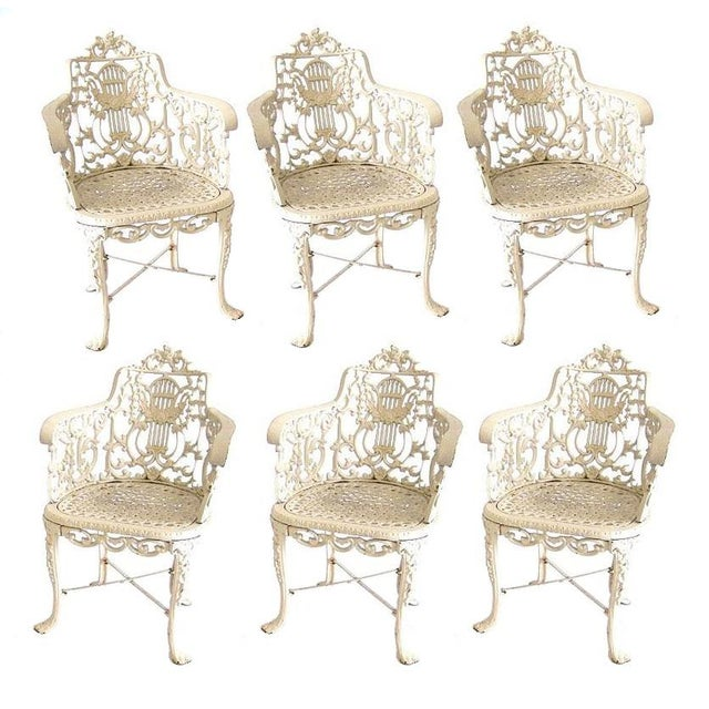 Robert Wood Foundry Cast Iron Seven-Piece Garden Set For Sale - Image 10 of 10